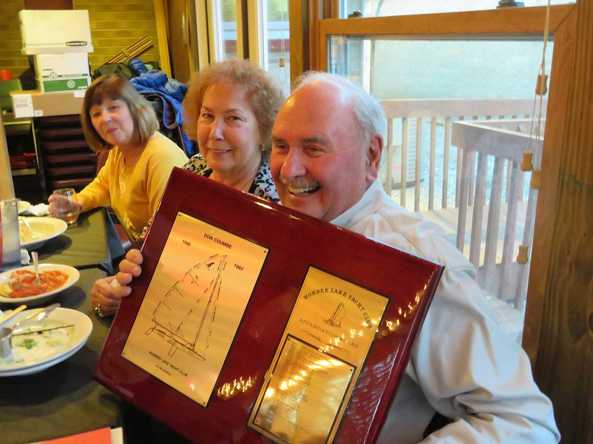 "Congratulations to Dennis and Jeannie Gallo who were voted the much deserved ""Club Appreciation"" award."